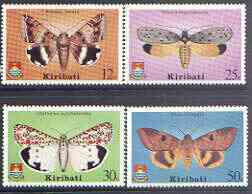Kiribati 1980 Moths perf set of 4 unmounted mint, SG 117-20 (gutter pairs available - price x 2)