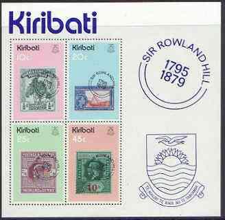 Kiribati 1979 Birth Centenary of Sir Rowland Hill perf m/sheet unmounted mint, SG MS104