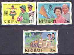 Kiribati 1982 Royal Visit perf set of 3 unmounted mint, SG 193-95