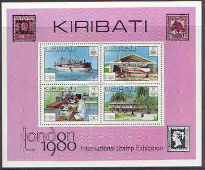 Kiribati 1980 'London 1980' perf m/sheet unmounted mint, SG MS116