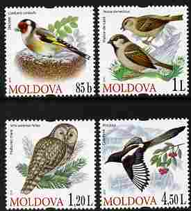 Moldova 2010 Birds perf set of 4 values unmounted mint