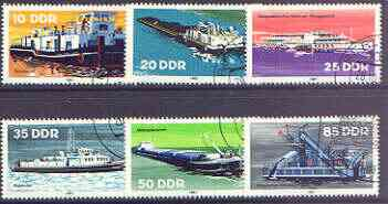 Germany - East 1981 Inland Shipping perf set of 6 cto used, SG E2361-66*