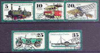 Germany - East 1977 Dresden Transport Museum perf set of 5 cto used, SG E1969-73*
