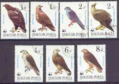 Hungary 1983 WWF - Birds of Prey perf set of 7 cto used, SG 3507-13*