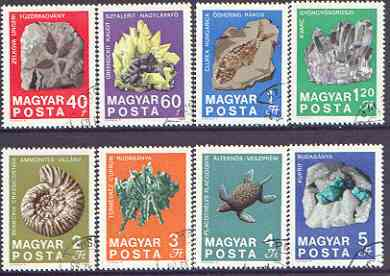 Hungary 1969 Geological Institute - Minerals & Fossils perf set of 8 cto used, SG 2463-70*