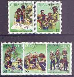 Cuba 2002 Scouts perf set of 5 fine cto used