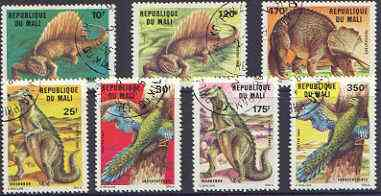 Mali 1984 Prehistoric Animals perf set of 7 fine cto used, SG 1052-58*