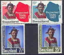 Swaziland 1967 Protected State perf set of 4 unmounted mint, SG 124-27