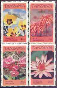 Tanzania 1986 Flowers  perf set of 4 unmounted mint SG 474-77