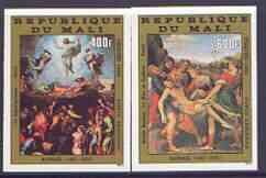 Mali 1983 Easter Paintings set of 2 imperf from limited printing unmounted mint, as SG 957-8