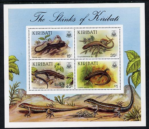 Kiribati 1987 Skinks perf m/sheet containing 4 values unmounted mint, SG MS 278