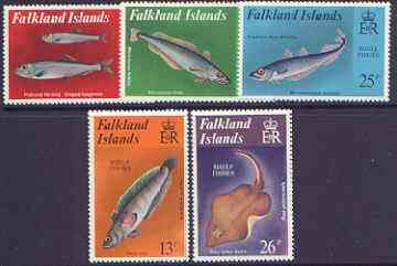 Falkland Islands 1981 Shelf Fishes perf set of 5 unmounted mint, SG 412-16