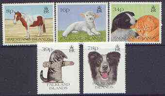 Falkland Islands 1993 Pets perf set of 5 unmounted mint, SG 691-95