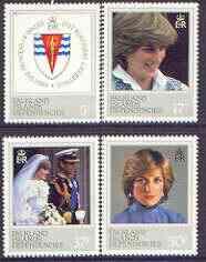 Falkland Islands Dependencies 1982 Princess Di's 21st Birthday perf set of 4 unmounted mint, SG 108-11