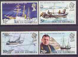 Falkland Islands Dependencies - South Georgia 1972 50th Death Anniversary of Sir Ernest Shackleton perf set of 4 unmounted mint, SG 32-35
