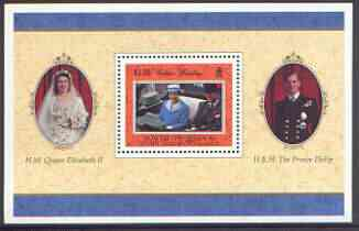 Falkland Islands Dependencies - South Georgia 1997 Golden Wedding perf m/sheet unmounted mint, SG MS 276