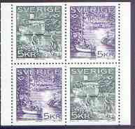 Booklet - Sweden 1995 Nordic Countries Postal Co-operation booklet pane of 4 (2 sets of 2) unmounted mint, SG 1811a