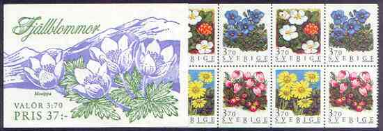 Booklet - Sweden 1995 Mountain Flowers 37k booklet complete and pristine, SG SB 480
