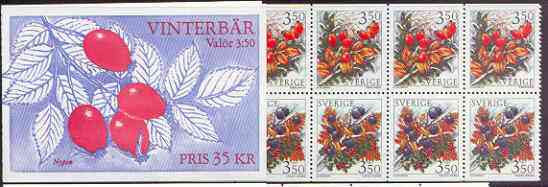 Booklet - Sweden 1996 Winter Berries 35k booklet complete and pristine, SG SB 488