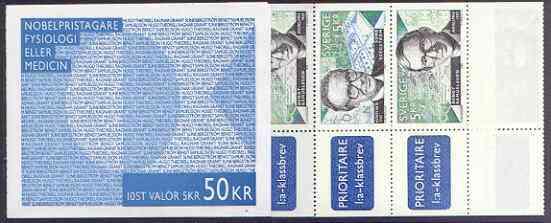Booklet - Sweden 1996 Swedish Winners of Nobel Prizes 50k booklet complete and pristine, SG SB 499