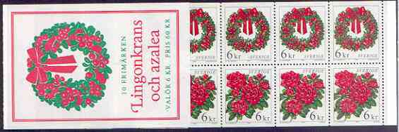 Booklet - Sweden 1998 Christmas Flowers 60k booklet complete and pristine, SG SB 525