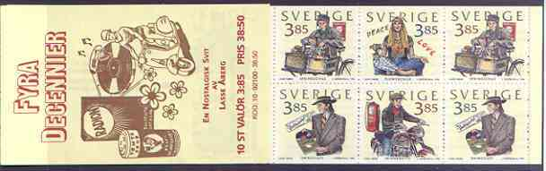 Booklet - Sweden 1996 Four Decades of Youth 38k50 booklet complete and pristine, SG SB 497