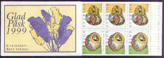 Booklet - Sweden 1999 Easter 30k booklet complete and pristine, SG SB 526