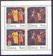 Booklet - Sweden 1995 Europa - Peace & Freedom booklet pane containing complete set of 4 values unmounted mint, SG 1798-1801