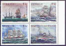 Sweden 1999 Australia 99 Stamp Exhibition  - Paintings of Ships complete set of 4 unmounted mint, SG 2020-23