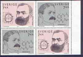 Booklet - Sweden 1997 Nobel Prize booklet pane containing two sets of 2 values unmounted mint, SG 1947a