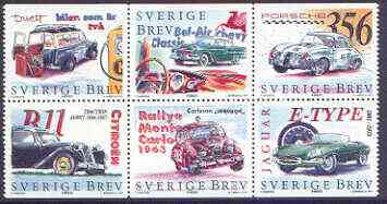 Booklet - Sweden 1997 Cars booklet pane containing complete set of 6 values unmounted mint, SG 1941a