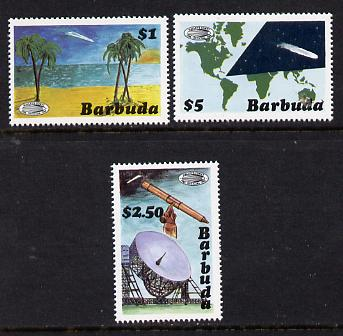Barbuda 1986 Halley's Comet (1st series) set of 3 (SG 865-7) unmounted mint