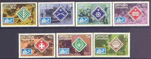 Grenada - Grenadines 1975 World Scout Jamboree perf set of 7 unmounted mint, SG 84-90