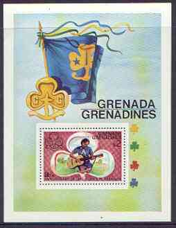 Grenada - Grenadines 1976 50th Anniversary of Girl guides perf m/sheet unmounted mint, SG MS 168