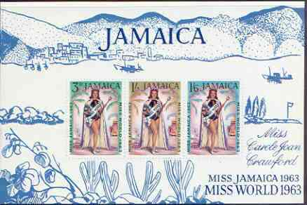 Jamaica 1964 Miss World 1963 perf m/sheet unmounted mint, SG MS 216a