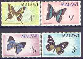 Malawi 1966 Butterflies perf set of 4 unmounted mint, SG 247-50