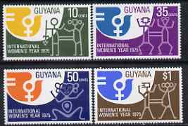Guyana 1975 International Women's Day perf set of 4 unmounted mint, SG 630-33