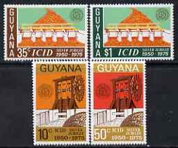 Guyana 1975 Irrigation & Drainage perf set of 4 unmounted mint, SG 625-28