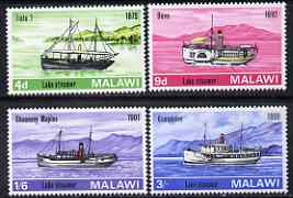 Malawi 1967 LakeMalawi Steamers perf set of 4 unmounted mint, SG 277-80