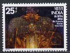 India 1974 St Francis Xavier Celebration unmounted mint, SG 754
