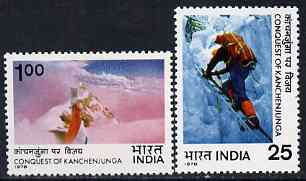 India 1978 Conquest of Kanchenjunga perf set of 2 unmounted mint, SG 874-75