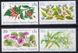 St Kitts-Nevis 1971 Flowers perf set of 4 unmounted mint, SG 237-40*
