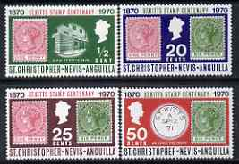 St Kitts-Nevis 1970 Stamp Centenary perf set of 4 unmounted mint, SG 229-32*