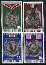 Trinidad & Tobago 1973 Eleventh Anniversary of Independence (Medals) perf set of 4 unmounted mint, SG 440-43