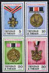 Trinidad & Tobago 1972 Tenth Anniversary of Independence (Medals) perf set of 4 unmounted mint, SG 417-20