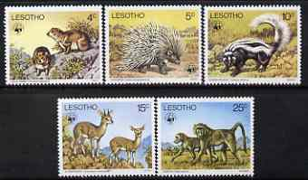 Lesotho 1977 WWF - Endangered Species perf set of 5 unmounted mint, SG 329-33