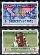 Lesotho 1968 20th Anniversary of World Health Organization perf set of 2 unmounted mint, SG 145-46
