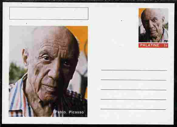 Palatine (Fantasy) Personalities - Pablo Picasso postal stationery card unused and fine