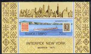 Samoa 1971 Interpex Stamp Exhibition perf m/sheet unmounted mint, SG MS 364