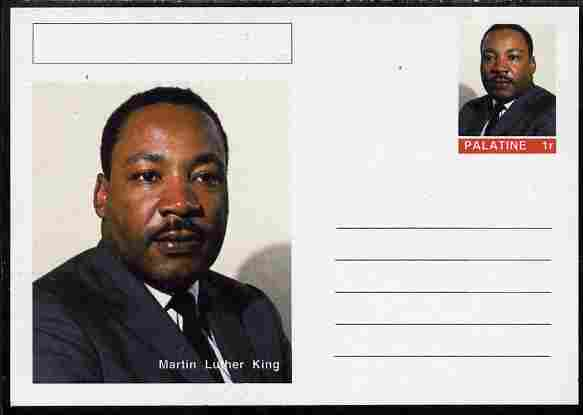 Palatine (Fantasy) Personalities - Martin Luther King postal stationery card unused and fine